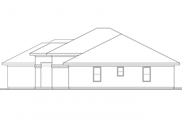 Southwest House Plan - Mendocino 30-681 - Right Elevation