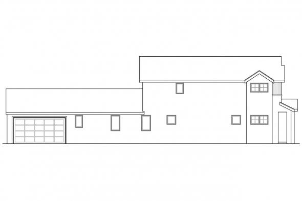 Southwest House Plan - Rock Creek II 30-820 - Left Elevation