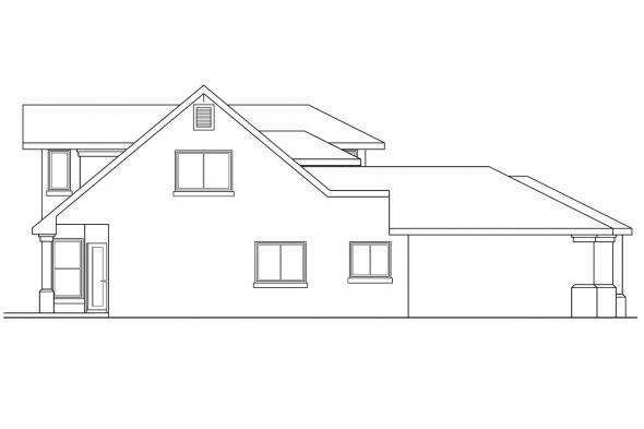 Southwest House Plan - Rosebery 30-162 - Left Elevation