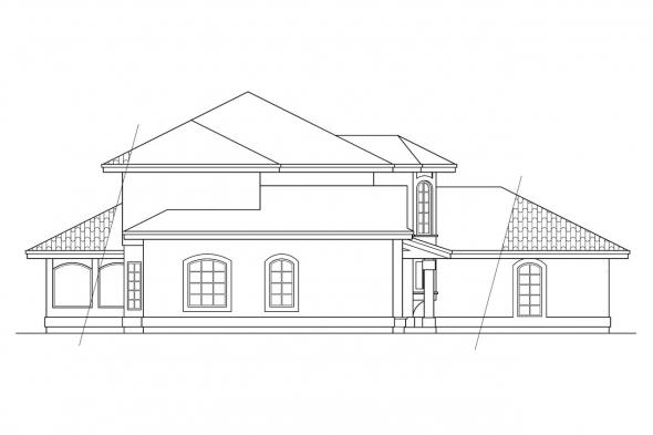 Southwest House Plan - Villa Real 11-067 - Left Elevation