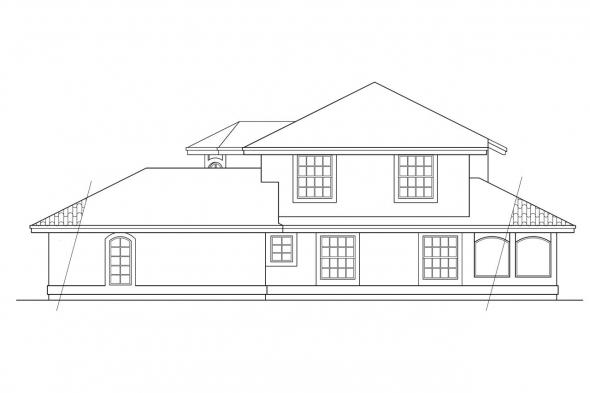 Southwest House Plan - Villa Real 11-067 - Right Elevation