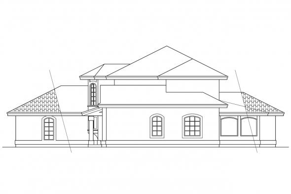 Spanish Style House Plan - Sequoia 11-013 - Right Elevation