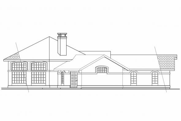 Spanish Style House Plan - Sierra 11-076 - Left Elevation