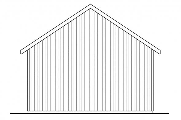 Three Car Garage Plan 20-051 - Right Elevation