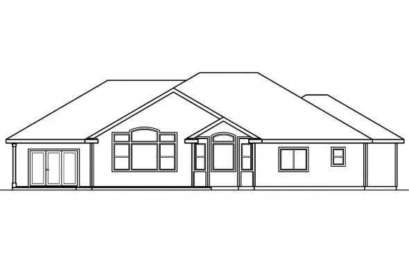 Traditional Home Plan - Bennett 30-281 - Rear Elevation