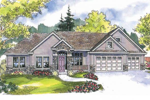 Traditional House Plan - Abbington 30-582 - Front Elevation