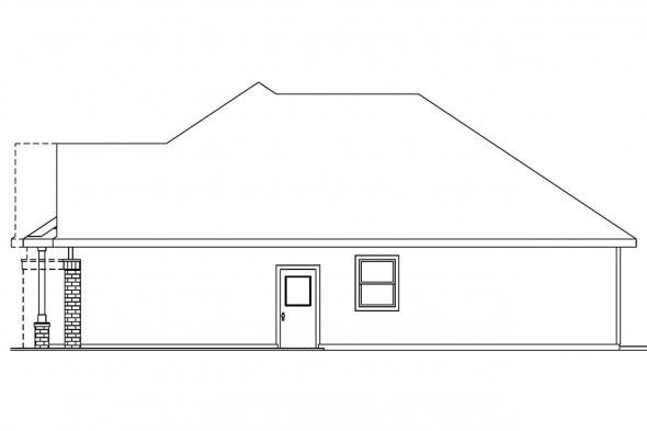 Traditional House Plan - Adrian 30-511 - Right Elevation