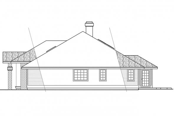 Traditional House Plan - Ainsley 10-008 - Right Elevation