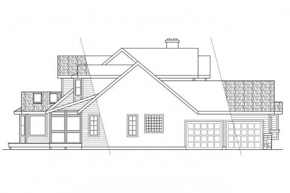 Traditional House Plan - Allegheny 10-204 - Left Elevation