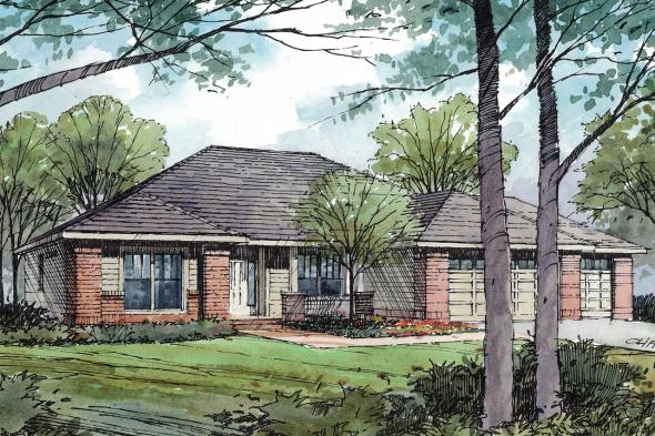 Traditional House Plan - Ambrose 30-736 - Front Elevation
