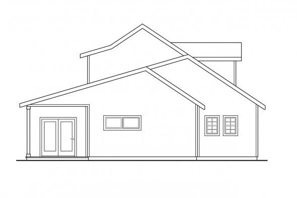 Traditional House Plan - Amsbury 30-124 - Left Elevation