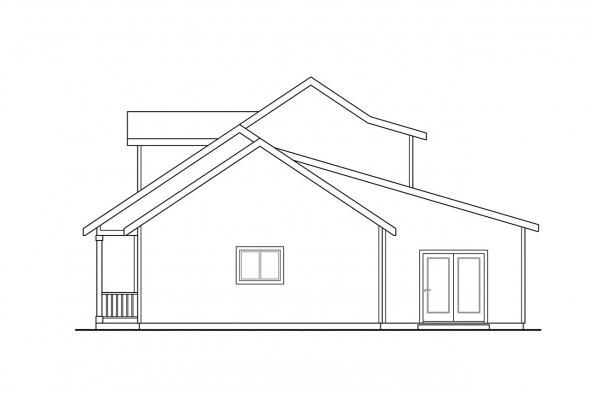 Traditional House Plan - Amsbury 30-124 - Right Elevation