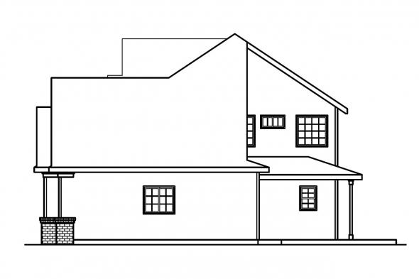 Traditional House Plan - Arundel 30-200 - Right Elevation