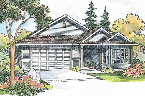 Traditional House Plan - Ashland 30-191 - Front Elevation