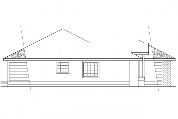 Traditional House Plan - Baldwin 30-019 - Left Elevation