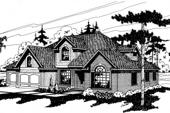 Traditional House Plan - Berkley 10-032 - Front Elevation