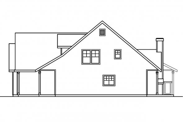 Traditional House Plan - Bryson 30-204 - Right Elevation