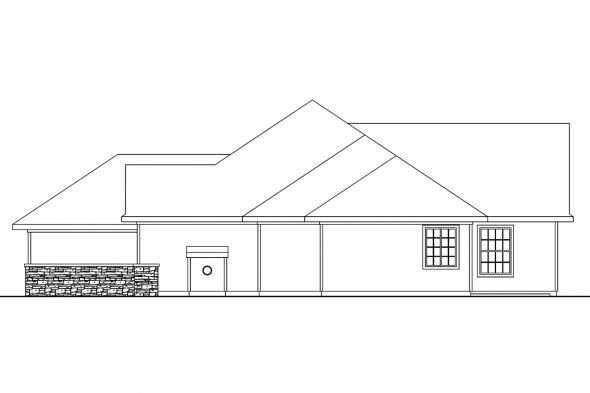 Traditional House Plan - Carson 30-670 - Right Elevation
