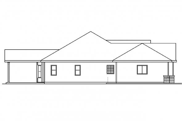 Traditional House Plan - Chadbryne 30-577 - Left Elevation
