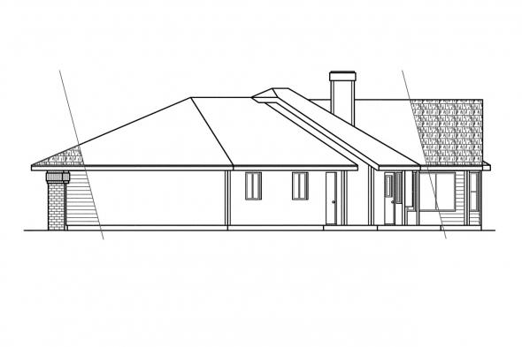 Traditional House Plan - Cleargrove 10-132 - Right Elevation