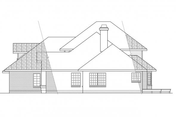 Traditional House Plan - Compton 10-019 - Right Elevation