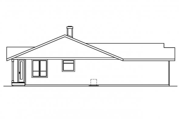 Traditional House Plan - Connelly 30-375 - Left Elevation