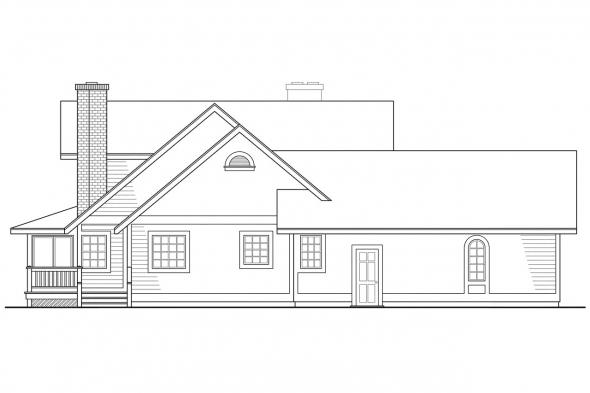 Traditional House Plan - Corbin 10-020 - Left Elevation