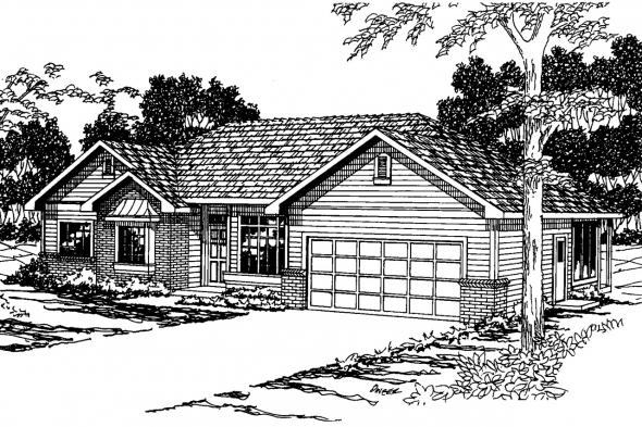 Traditional House Plan - Cottonwood 30-151 - Front Elevation