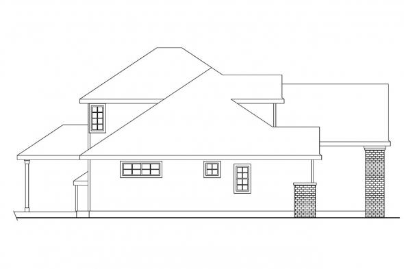 Traditional House Plan - Cranston 30-539 - Left Elevation