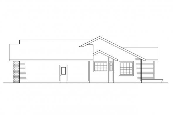 Traditional House Plan - Easton 10-133 - Right Elevation