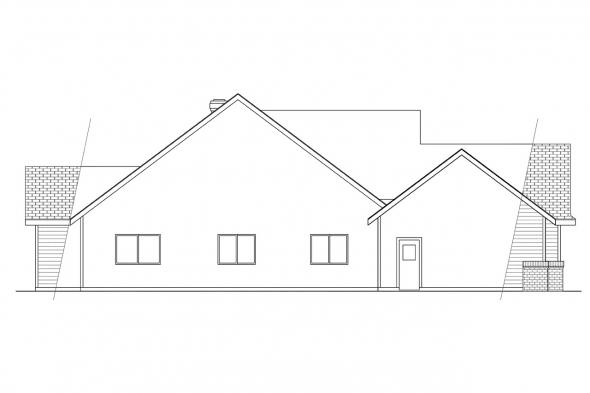 Traditional House Plan - Edgemont 10-136 - Left Elevation