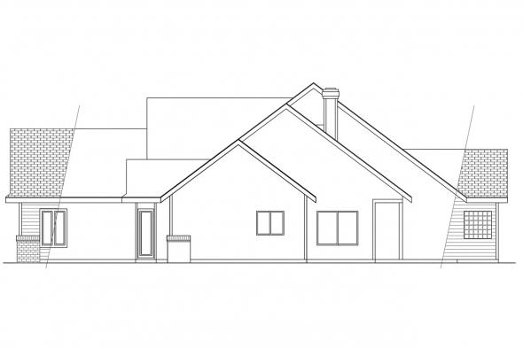 Traditional House Plan - Edgemont 10-136 - Right Elevation