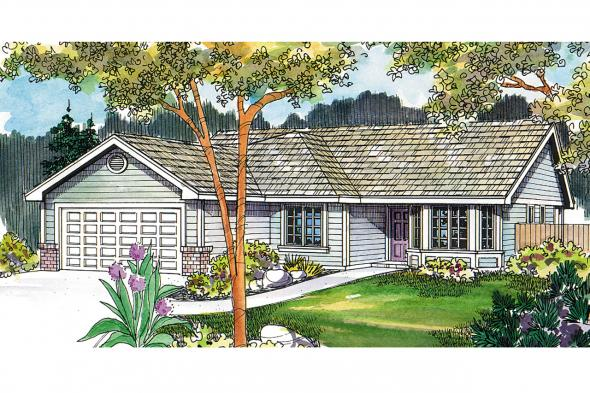 Traditional House Plan - Emory 30-319 - Front Elevation