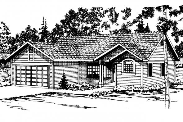 Traditional House Plan - Evanston 10-112 - Front Elevation
