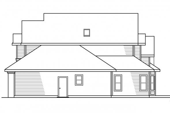 Traditional House Plan - Gilcrest 30-270 - Right Elevation