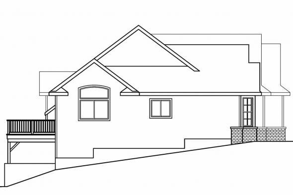Traditional House Plan - Glendora 30-686 - Left Elevation