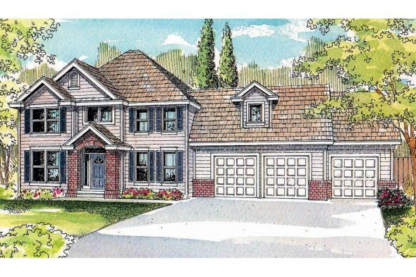 Traditional House Plan - Glenhurst 30-372 - Front Elevation