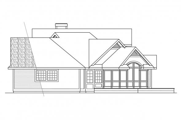 Traditional House Plan - Hayward 10-134 - Right Elevation