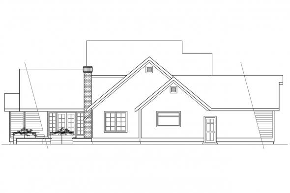 Traditional House Plan - Hearthstone 10-200 - Left Elevation