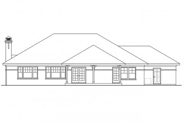 Traditional House Plan - Heartshaven 10-525 - Rear Elevation