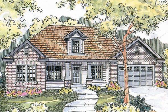 Traditional House Plan - Hennebery 30-520 - Front Elevation