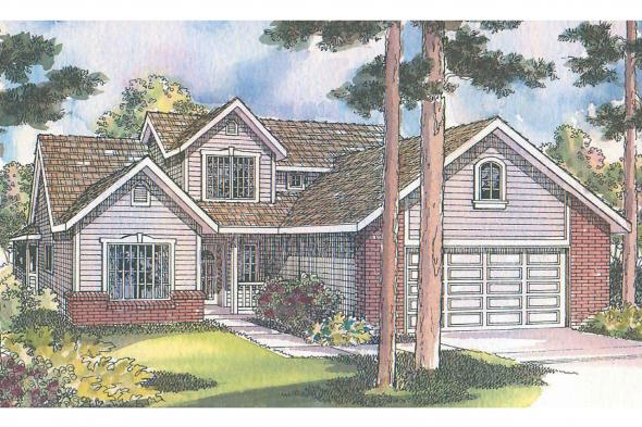 Traditional House Plan - Jasper 30-141 - Front Elevation
