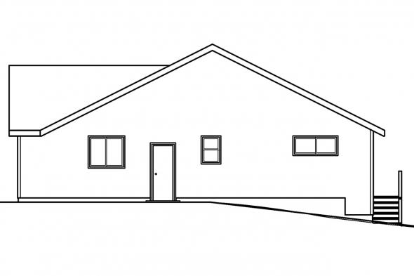 Traditional House Plan - Lander 30-225 - Right Elevation