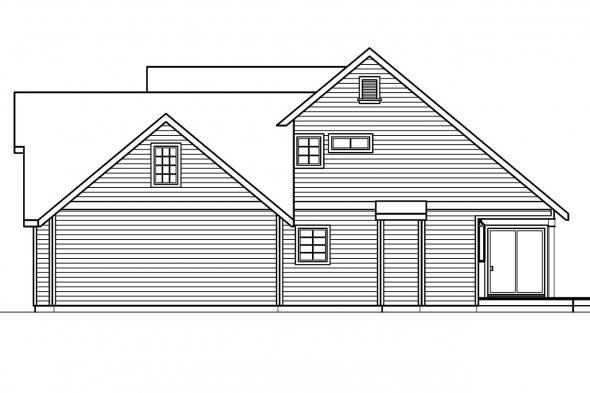 Traditional House Plan - Loveland 30-282 - Right Elevation