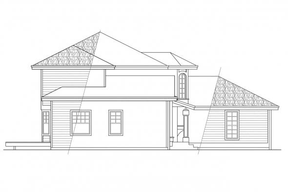 Traditional House Plan - Maplewood 10-129 - Left Elevation