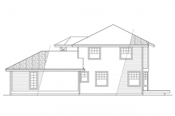 Traditional House Plan - Maplewood 10-129 - Right Elevation