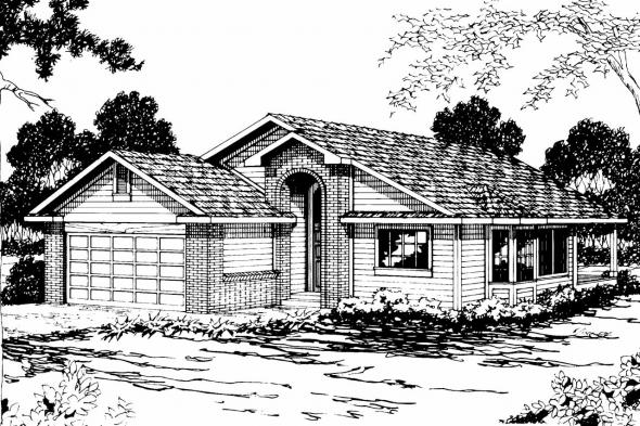 Traditional House Plan - Marshall 10-160 - Front Elevation
