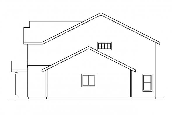 Traditional House Plan - McKinnon 30-420 - Right Elevation