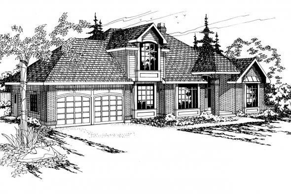 Traditional House Plan - Melrose 10-047 - Front Elevation