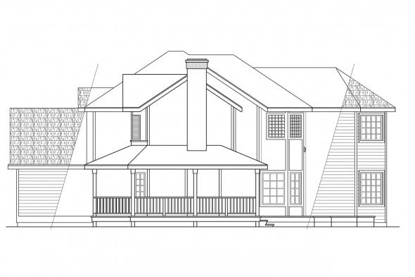 Traditional House Plan - Melville 10-096 - Right Elevation